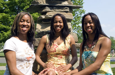 achievement runs in the family for dartmouth triplets black on campus